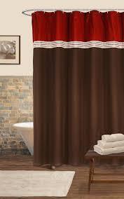 Lush Decor Window Curtains by Lush Decor Terra Shower Curtain Red Chocolate