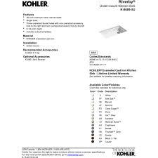 33x22 Single Bowl Kitchen Sink by Kohler K 8689 5u Ka Riverby Black Tan Undermount Single Bowl