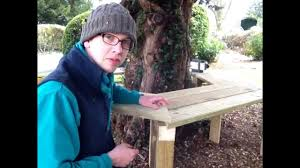 how to build a tree bench youtube