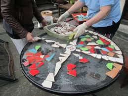 how to design mosaic table top with ceramic tiles ceramic tile