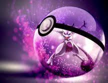 Purple Pokemon In A Ball