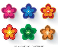 Paper Cut Flower Images Stock Photos Vectors