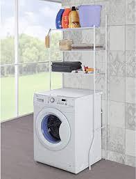 songmics toilettenregal wc regal badezimmer regal waschmaschinenregal maße 67 x 163 x 28 5 cm weiß bwr001w