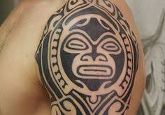 Aztec Tribal Tattoo Design On Sleeve Full Tattoos
