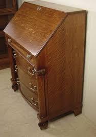 Chautauqua Desk Larkin Soap by Antique 1910 Oak Slant Front Mirrored Secretary Desk Antique