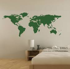 Ebay Wall Decoration Stickers by World Map Wall Art Vinyl Decal Stickers Home Decor Removable Mural