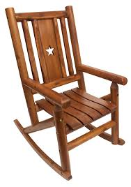 LeighCountry Amber-Log Star Single Porch Rocking Chair | Wayfair