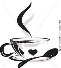 Beauty Silhouette Of Cup Coffee Lover