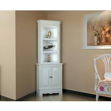 White Corner Cabinet Dining Room Display Wooden Shelf Shabby Chic Unit Living Hutch For Home Painting Ideas