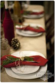 Rustic Christmas Table Decorations Fun Fall Dinner Party Setting Centerpieces