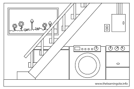 Basement clipart black and white Pencil and in color basement