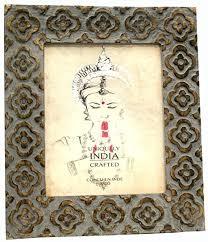 keyhome bilderrahmen aus holz dekoriert mit orientalischer