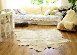echtes kuhfell fell 205x150 teppich landhaus beige hell teppich
