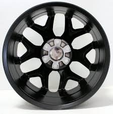 GMC Style Black And Machined Snowflake 20 Inch Wheels