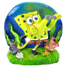 Spongebob Fish Tank Ornaments by Fish Tank Decorations With Bubbles Color Changing Led Bubble