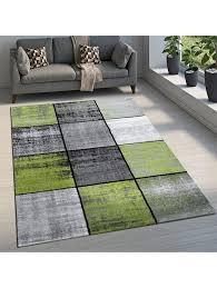 paco home designer teppich modern kurzflor karos speziell meliert creme beige braun klingel