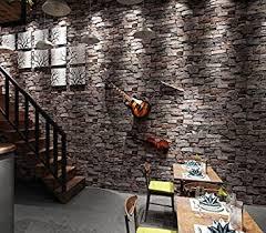 starsglowing retro wandtapete 3d steintapete fototapete für schlafzimmer wohnzimmer cafe bar 9 5 x 0 53 m braun grau