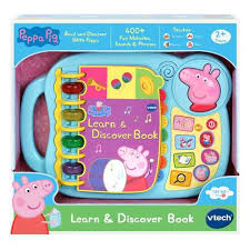 vtech peppa pig learn and discover book kmartnz