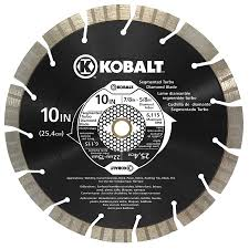 shop kobalt 10 in wet or dry segmented circular saw blade at lowes com