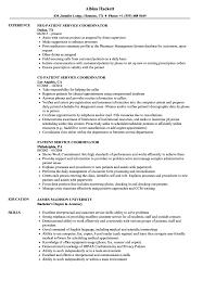 Download Patient Service Coordinator Resume Sample As Image File