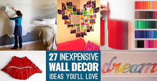 easy and cheap decorations cool cheap but cool diy wall ideas for your walls