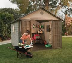 Tractor Supply Wood Storage Sheds by Amazon Com Lifetime 6433 Outdoor Storage Shed With Windows 11