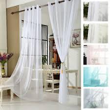 details zu 2er vorhang transparent voile gardine fensterschal ösen kräuselband wohnzimmer