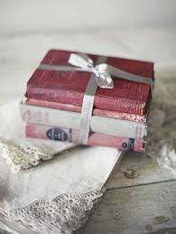 Pretty Little Books Tied Up With Ribbon
