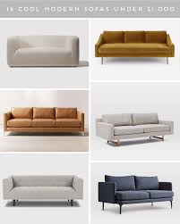 100 Modern Couches Couch Potato 16 Stylish Sofas Under 1000 Paper