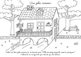 coloriage maison jardin à imprimer