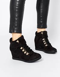 image 1 of new look hiker wedge trainers schoenen pinterest
