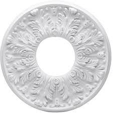 Small Two Piece Ceiling Medallions by Westinghouse Victorian 16 In White Ceiling Medallion 2 Piece