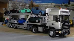 100 Truck Carrier Siku Control32 Scania R620 Tieflader Umgebaut Zum Autotransporter