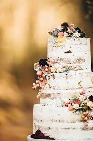 Like The Barely There Frosting And Fact That Its Not A Fully Naked Cake Love Tiered Effect Flower Positioning