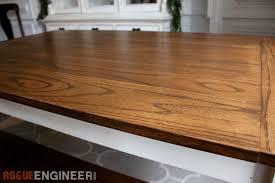 diy solid oak farmhouse table free u0026 easy plans