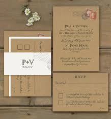 Awesome Rustic Wedding Invitations Kraft Paper