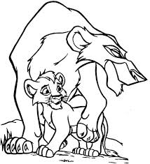 Lion King Scar And His Son The Coloring Page