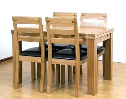 Small Table And Four Chairs Oak 4 Round Sketch Of Rectangular