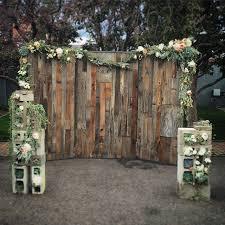 Custom Made Wood Wall Wedding Backdrop