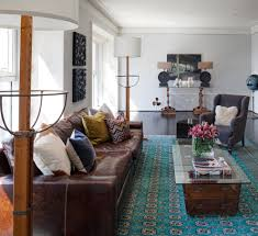 Brown And Teal Living Room Pictures by Teal Velvet Sofa Living Room Contemporary With Blue Rug Brown