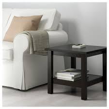 hemnes side table black brown ikea