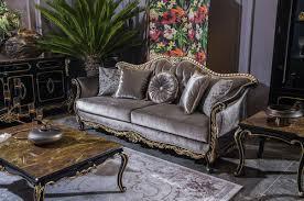 casa padrino luxus barock sofa silber schwarz gold 220 x 88 x h 107 cm prunkvolles wohnzimmer sofa mit dekorativen kissen edel prunkvoll