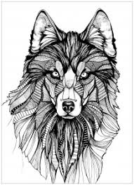 Coloring Page Wolf 3 Free To Print
