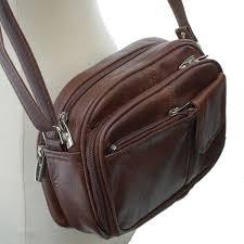 womens leather organizer purse shoulder bag handbag cross body bag