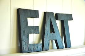 Idea Kitchen Wall Decor Decorating A Large Art Eat Letters For Dining