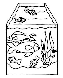 Drawing Fish Tank Coloring Page