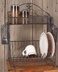 Metal Star Dish Rack Kitchenware Decor Gifts Fort Western Kitchen