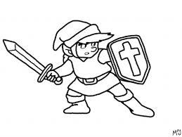 Zelda Coloring Page Link Pichu