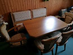 esszimmer massiv eiche rustikal esszimmertisch stühle eckbank
