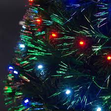 Fiber Optics Christmas Trees Artificial by Amazon Com 7 U0027 Artificial Holiday Fiber Optic Light Up Christmas